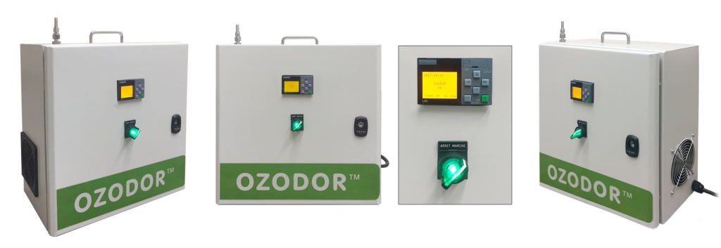 Ozodor™ machine made by Emo 3, a commercial ozone generator in a room
